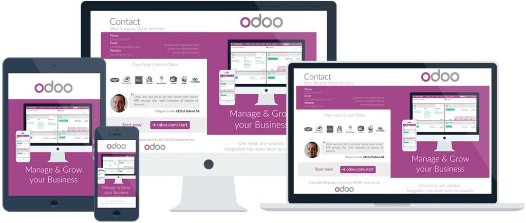 Odoo responsive view marketing