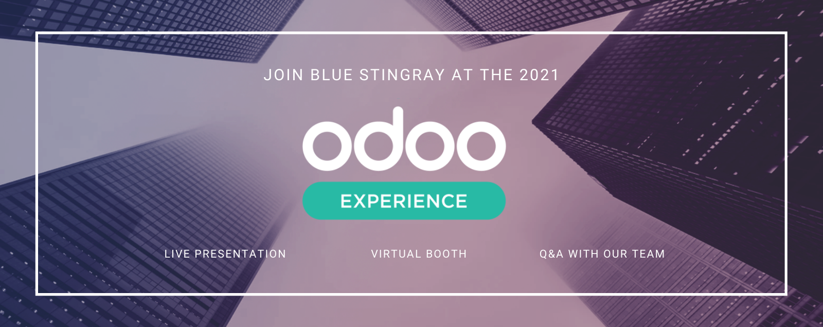 Join Blue Stingray at the 2021 Odoo Experience